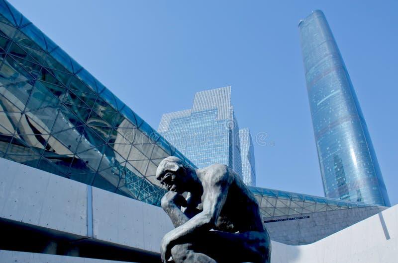 Arranha-céus modernos em Guangzhou fotos de stock royalty free