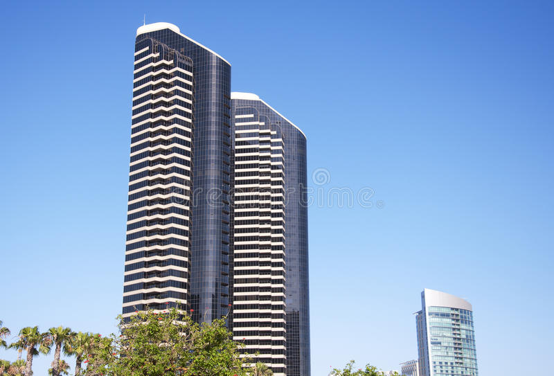 Arranha-céus modernos em San Diego imagens de stock royalty free