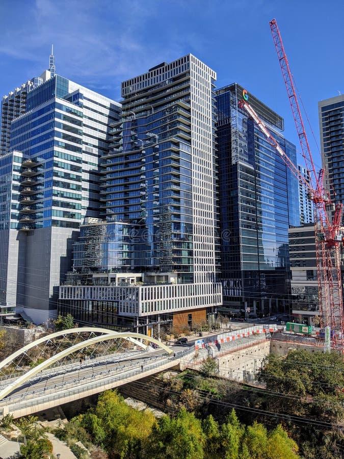 Arranha-céus modernos no centro de Austin Texas imagem de stock royalty free