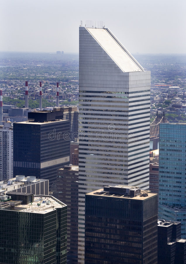 Arranha-céus New York City do edifício de Citi fotos de stock royalty free