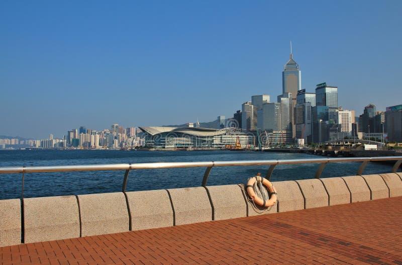 Arranha-céus no centro de Hong Kong imagens de stock royalty free