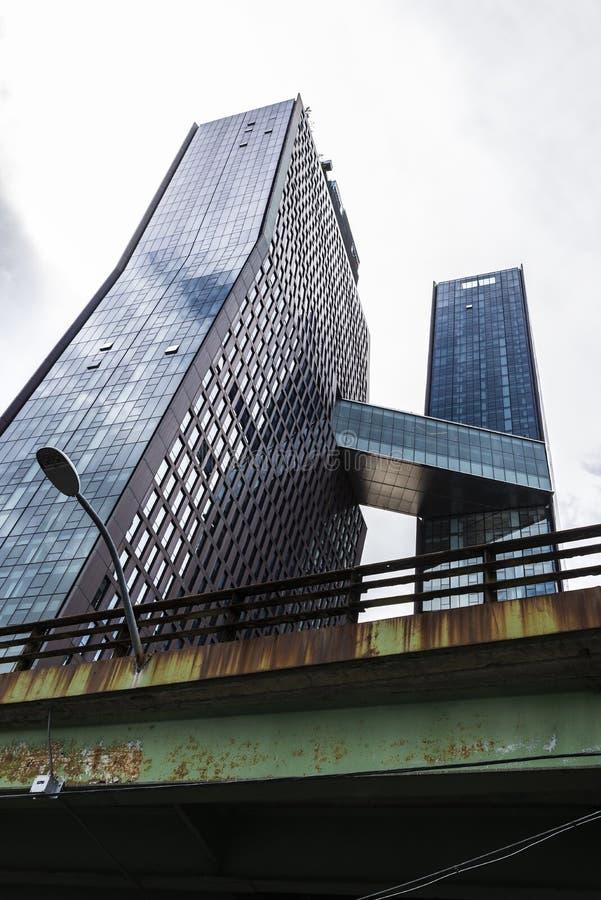 Arranha-céus residencial em Manhattan, New York City, EUA fotografia de stock royalty free