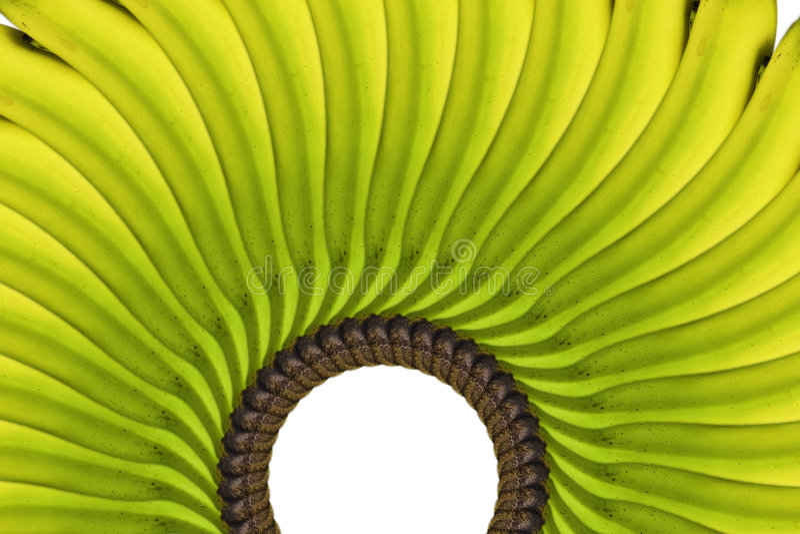 Arranjo amarelo da banana foto de stock