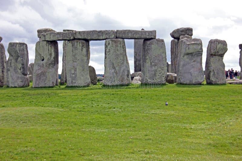 Arranjo circular dos blocos de pedra, Stonehenge, sudoeste Inglaterra imagens de stock