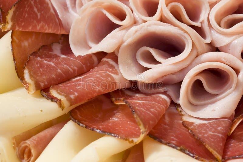 Arranjo cortado bonito do alimento imagem de stock