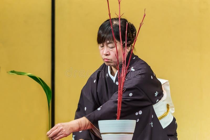 Arranjo de flor japonês imagem de stock royalty free