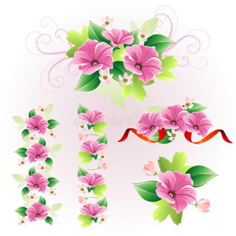 Arranjo de flor roxo ilustração royalty free