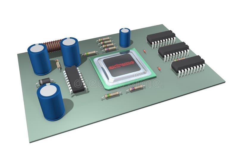 Download Arranjo eletrônico ilustração stock. Ilustração de semicondutor - 12806852
