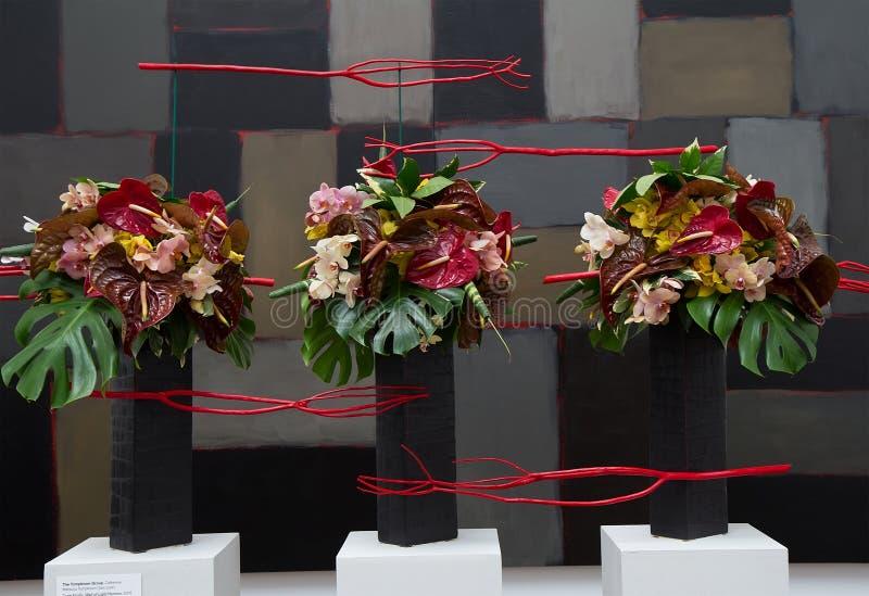 Arranjo floral em ramalhetes à arte 2014 imagens de stock