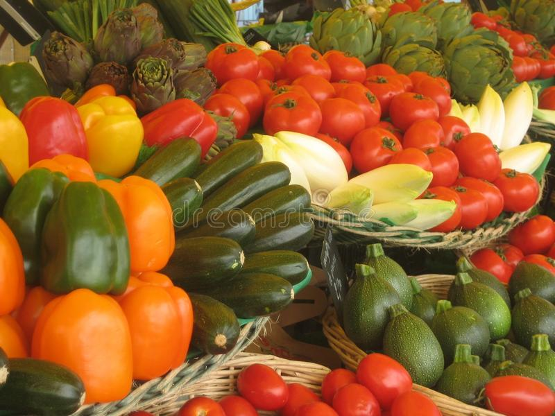 Arranjo vegetal colorido fotos de stock royalty free