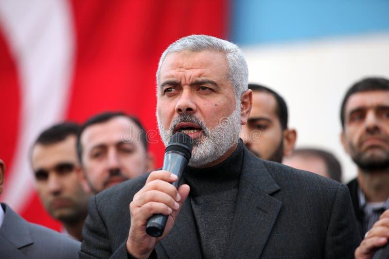 Arranque de cinta Ismail Haniyeh de Hamas fotografía de archivo