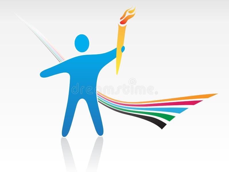 Arranque de cinta olímpico ilustración del vector