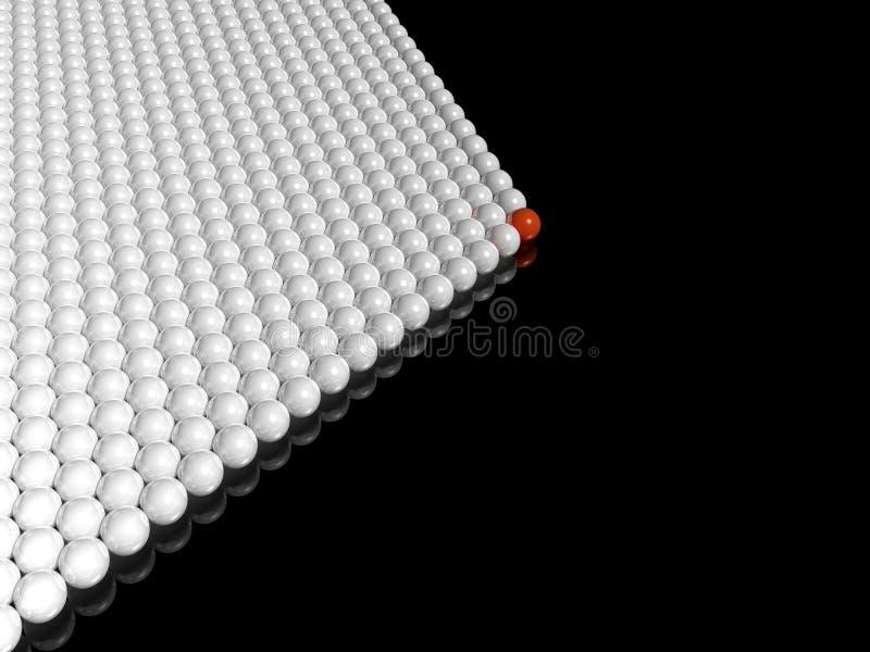Arranque de cinta rojo del grupo de las bolas ilustración del vector