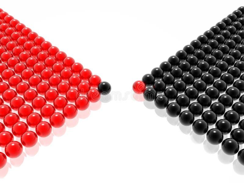 Arranque de cinta rojo y negro de la gerencia ilustración del vector