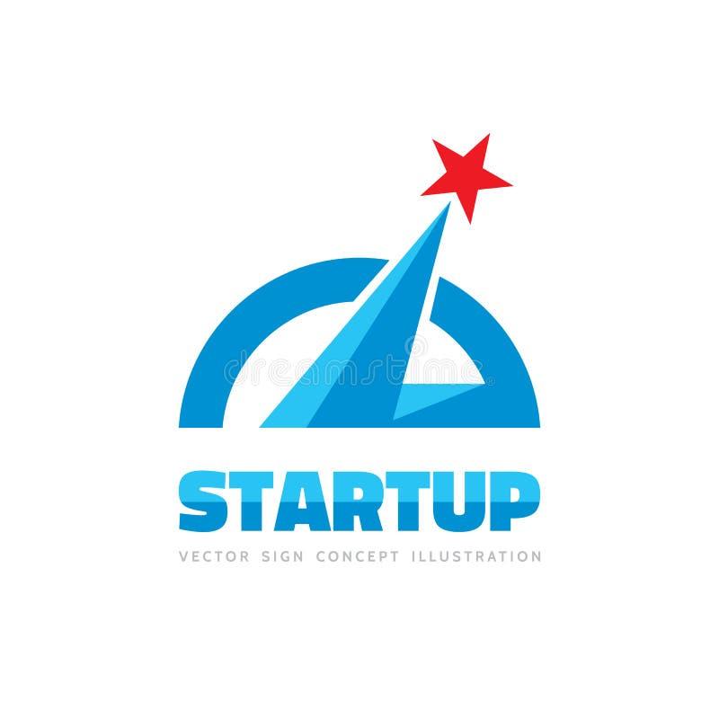 Arranque - ejemplo del concepto de la plantilla del logotipo del vector Muestra creativa de la estrella abstracta del espacio Ele ilustración del vector