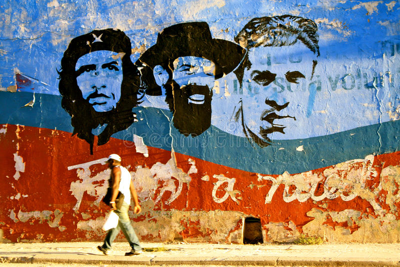 Arranques de cinta cubanos de la revolución, La Habana foto de archivo