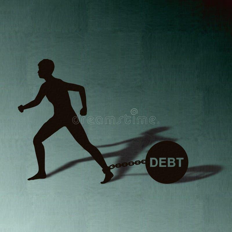 Arraste o débito ilustração stock