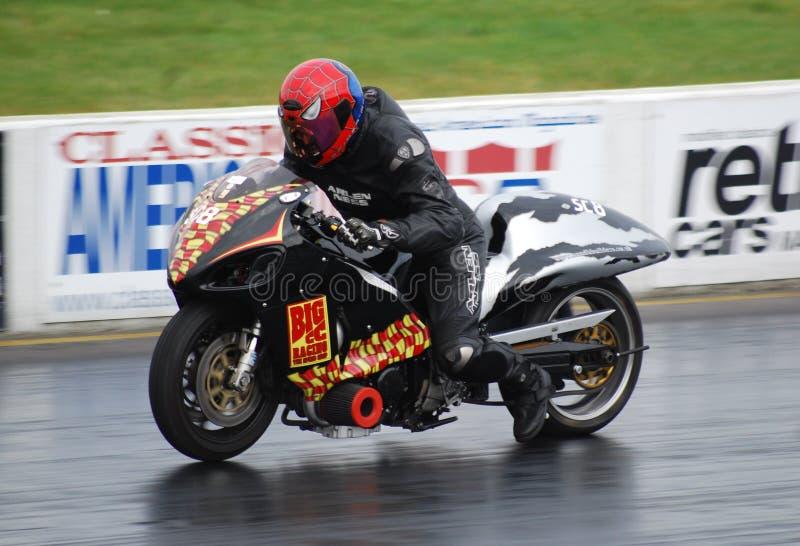 Arrasto que compete a motocicleta fotografia de stock royalty free