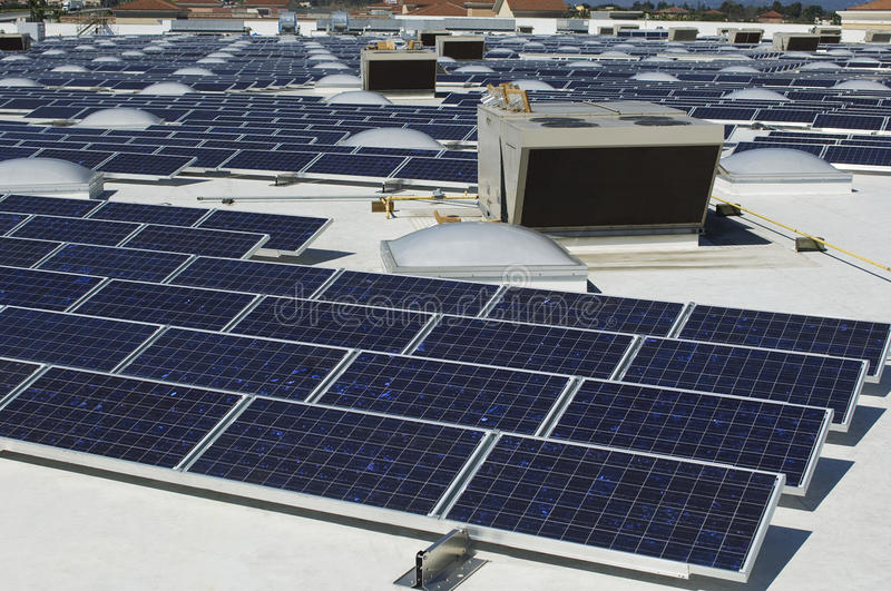 Array Of Solar Panels stock images