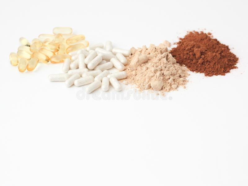 Array of supplements for PCOS royalty free stock photo