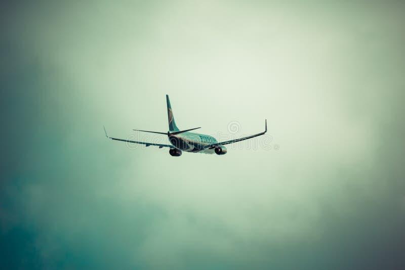 Arrecife, Espanha -22 março de 2015: O avião de passageiros de Ryanair é os larges fotos de stock