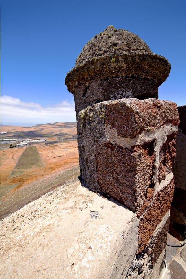 Free Arrecife Lanzarote Spain The Old Wall Sentry Stock Photos - 40394123