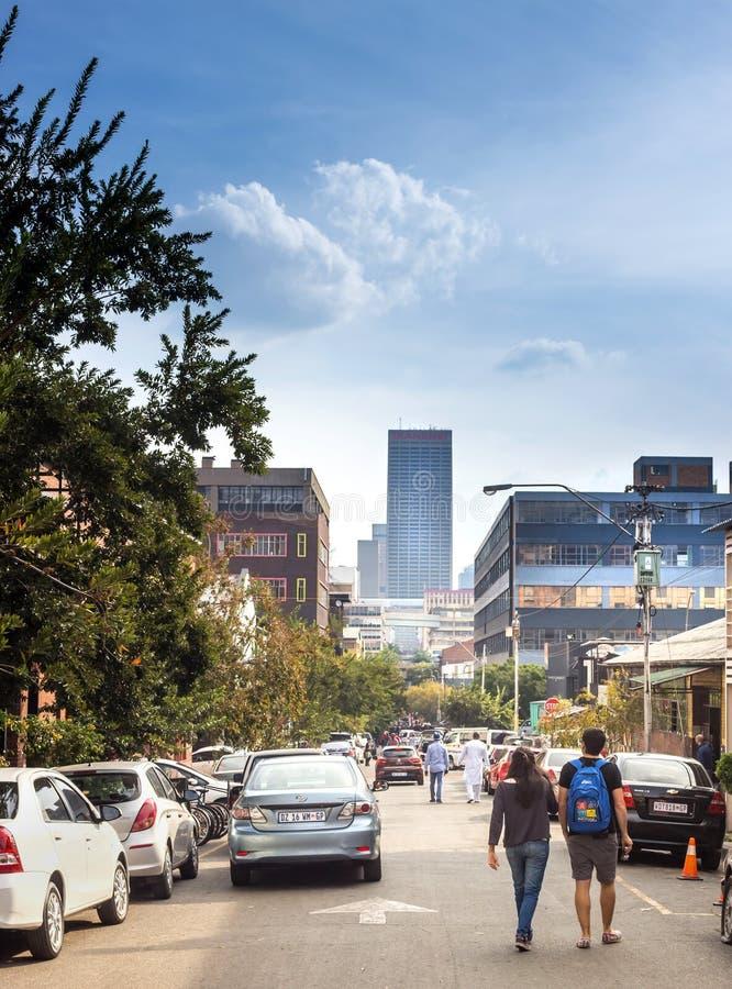 Arredores de Maboneng em Joanesburgo foto de stock