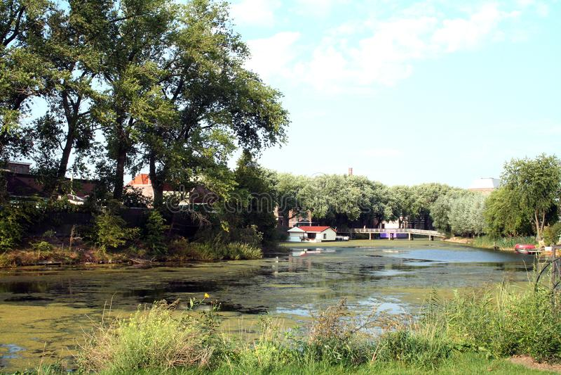 Arredores diretos da cidade de Deventer imagem de stock