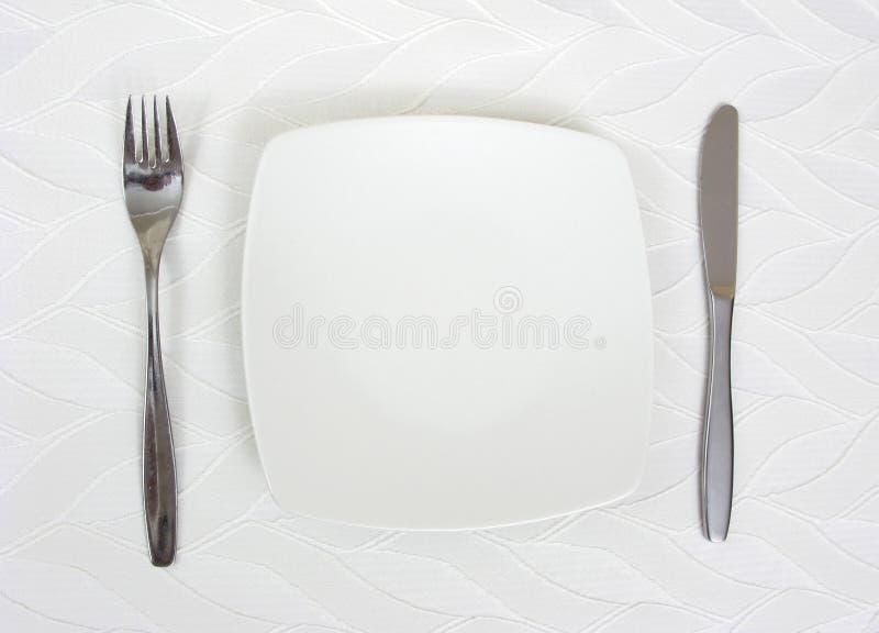 Arreglo de la placa de cena fotografía de archivo