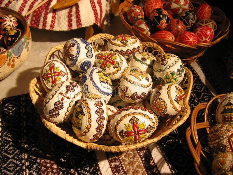 Arreglo de los huevos de Pascua fotografía de archivo