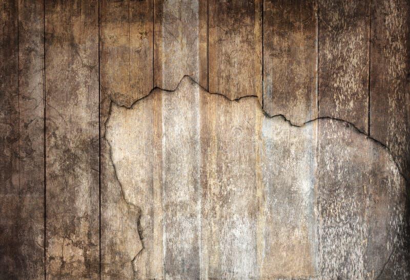 Arreglo del uso texturizado madera vieja del panel del panel como grano de madera foto de archivo libre de regalías