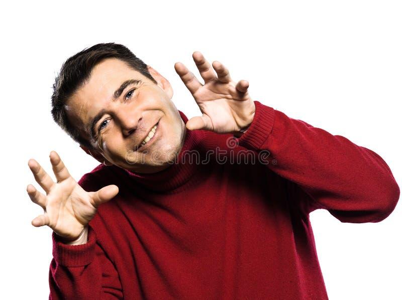 Arrelia caucasiano do homem criançola fotos de stock