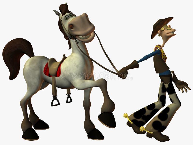 Arremolina y el sheriff stock de ilustración