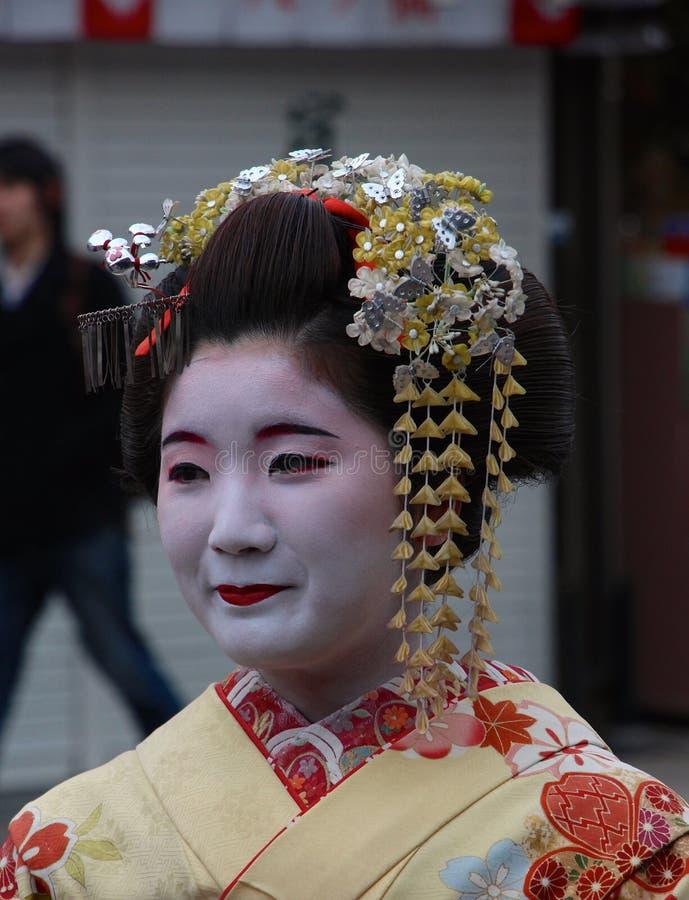 Arrendamento do traje de Maiko Geisha/fazer-sobre fotos de stock