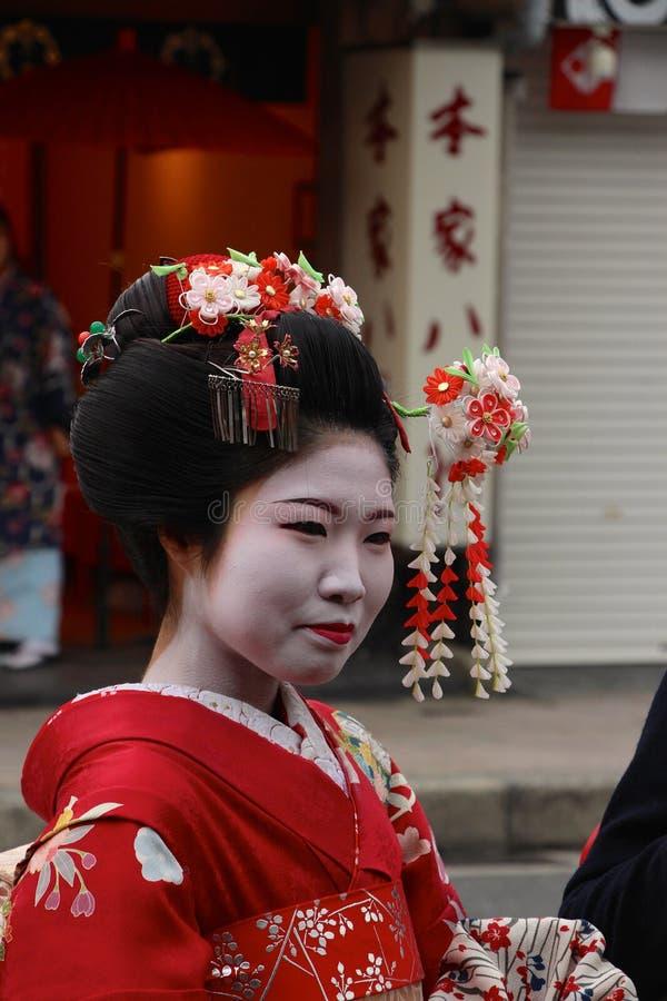 Arrendamento do traje de Maiko Geisha/fazer-sobre imagens de stock royalty free
