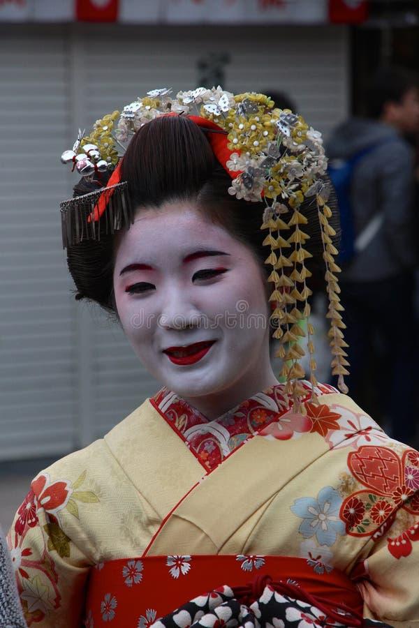 Arrendamento do traje de Maiko Geisha/fazer-sobre imagem de stock