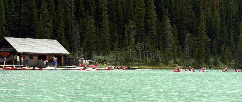 Arrendamentos da canoa fotografia de stock