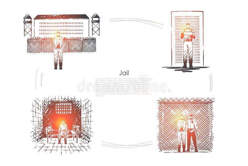 Arrest brottsligt straff, brotts- bestraffning, f royaltyfri illustrationer