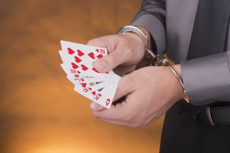 Arrest card sharper stock photos
