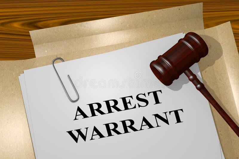Arrest Warrant concept royalty free illustration