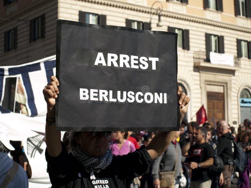 Arrestatie Berlusconi stock afbeeldingen
