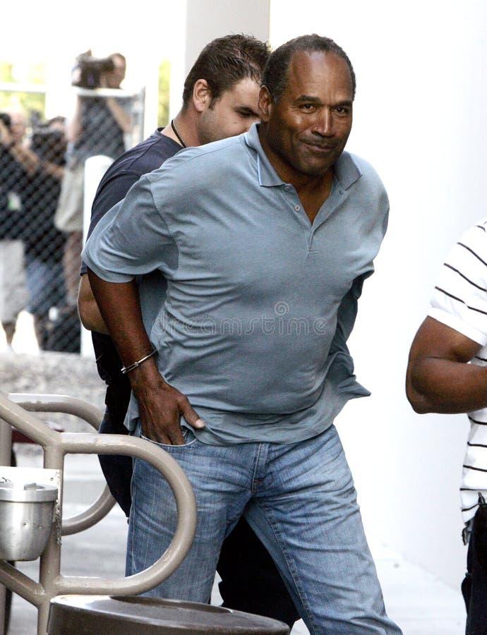 Arrestation de JO Simpson photos libres de droits