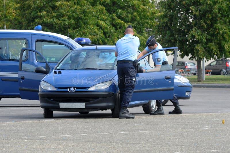 Arrestato dai gendarmi fotografia stock libera da diritti