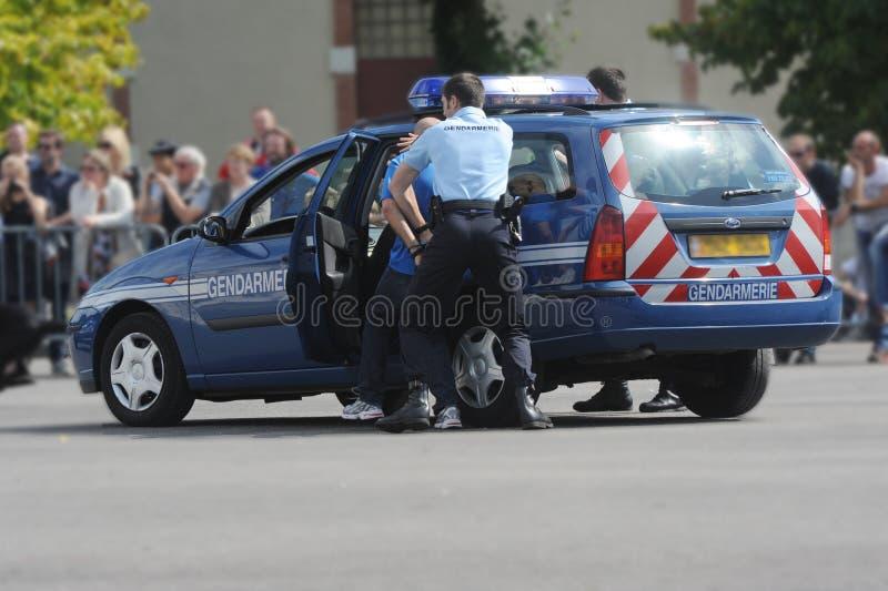 Arrestato dai gendarmi immagine stock libera da diritti