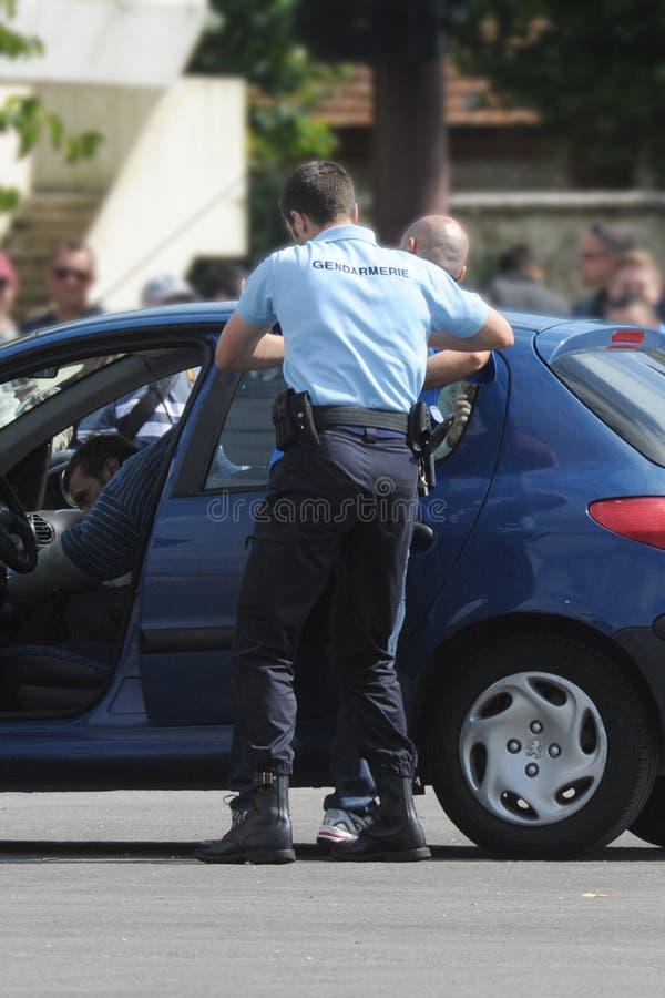 Arrestato dai gendarmi fotografie stock libere da diritti
