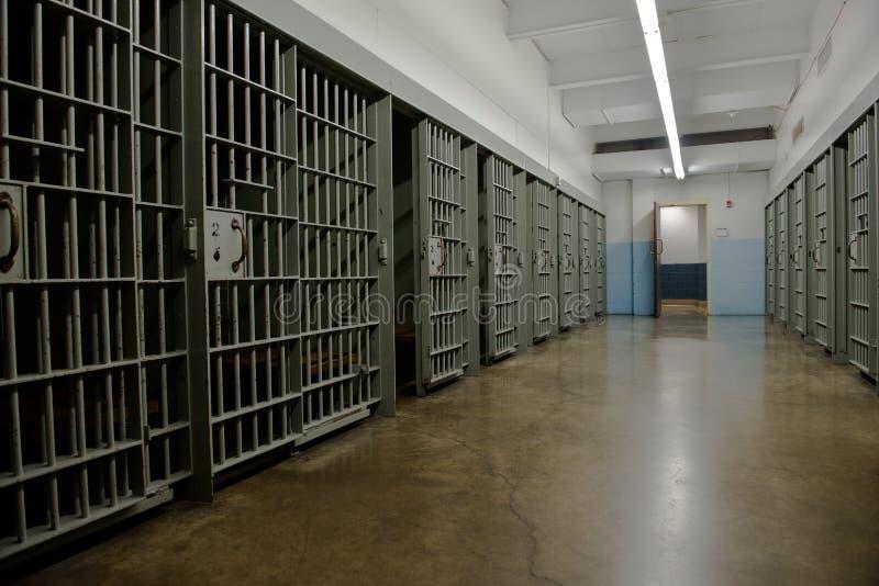 Arrestcell, fängelse, rättsskipning arkivfoto