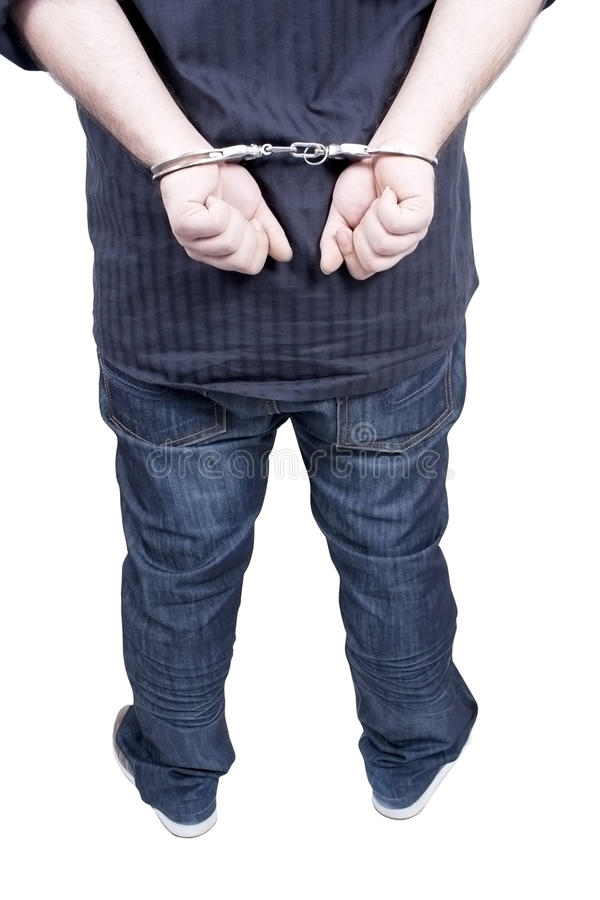 Arrested stock photography