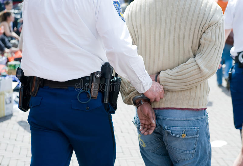 Arrested royalty free stock photography