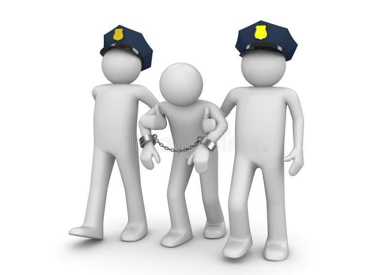 Arrested outlaw - Legal vector illustration