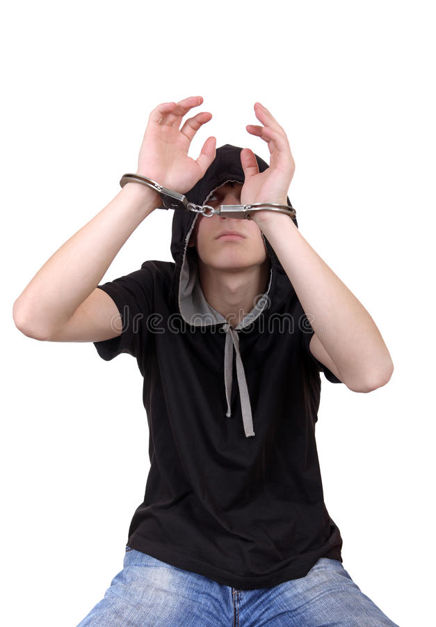 Download Arrested Young Man In Handcuffs Stock Photo - Image of person, handcuffs: 31045196